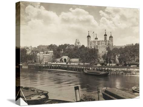 Tower of London from Tower Bridge, London, 1933--Stretched Canvas Print