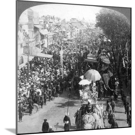 The Duke and Duchess of Connaught and in the Great Durbar Procession, Delhi, India, 1903-Underwood & Underwood-Mounted Giclee Print