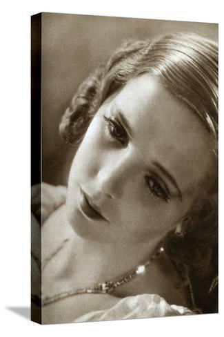 Jessie Matthews, British Actress, 1933--Stretched Canvas Print