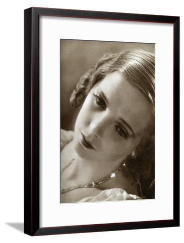 Jessie Matthews, British Actress, 1933--Framed Art Print