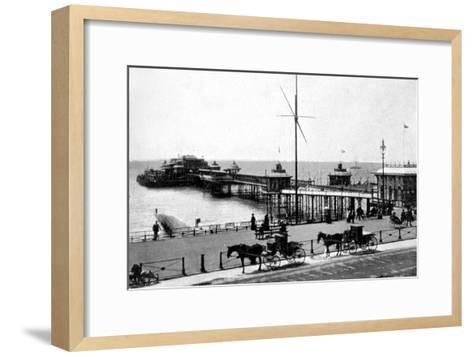 West Pier, Brighton, Sussex, Early 20th Century--Framed Art Print