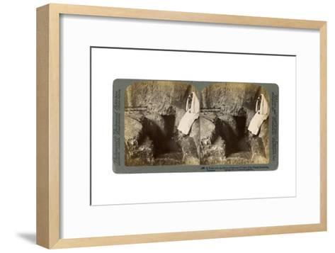 A Tomb with the Entrance Stone Rolled Away, Jerusalem, 1901-Underwood & Underwood-Framed Art Print