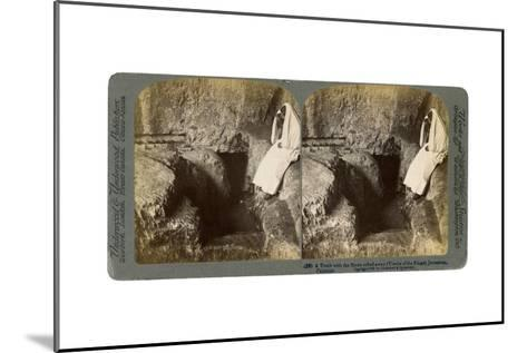 A Tomb with the Entrance Stone Rolled Away, Jerusalem, 1901-Underwood & Underwood-Mounted Giclee Print