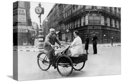 Improvised Bicycle Vehicle, German-Occupied Paris, 1940-1944--Stretched Canvas Print