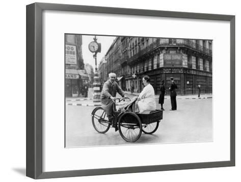 Improvised Bicycle Vehicle, German-Occupied Paris, 1940-1944--Framed Art Print