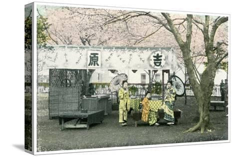 Lunch Stand in a Public Park, Japan, 1904--Stretched Canvas Print