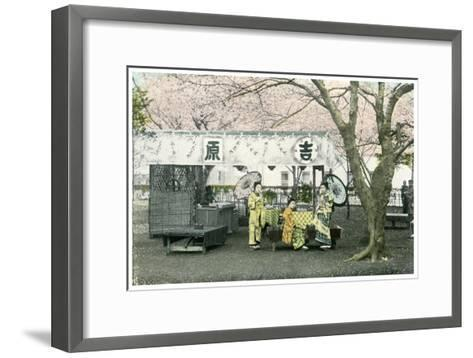 Lunch Stand in a Public Park, Japan, 1904--Framed Art Print