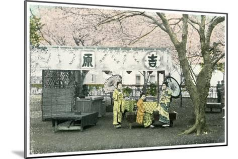 Lunch Stand in a Public Park, Japan, 1904--Mounted Giclee Print