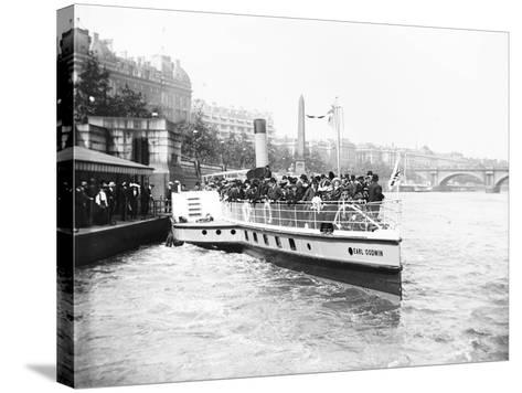 Passengers Boarding the Steamer 'Earl Godwin, London, C1905--Stretched Canvas Print