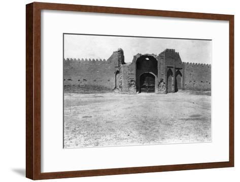 City Gate, Samarra, Mesopotamia, 1918--Framed Art Print