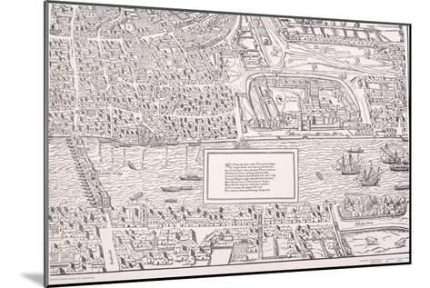 Agas' Map of London, C1561--Mounted Giclee Print
