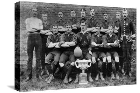 Football Team of the 1st Royal Scots (Lothian Regimen), 1896--Stretched Canvas Print