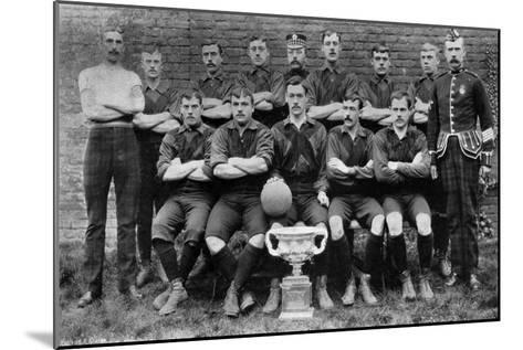 Football Team of the 1st Royal Scots (Lothian Regimen), 1896--Mounted Giclee Print