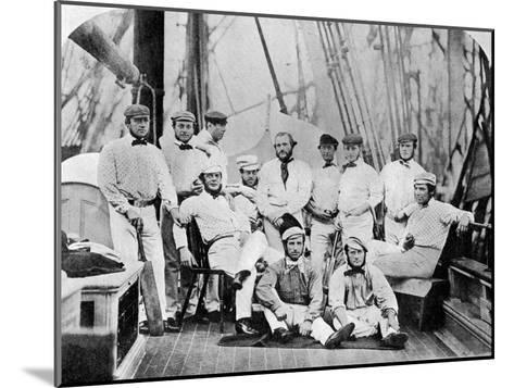 The First English Cricket Team to Tour America, 1859--Mounted Giclee Print
