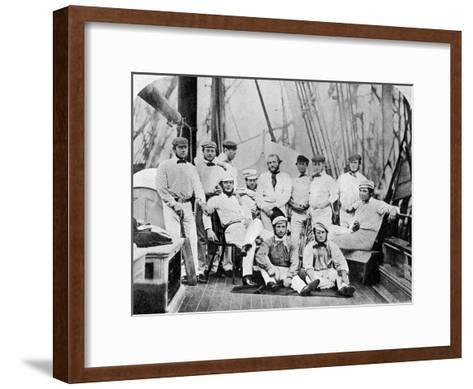 The First English Cricket Team to Tour America, 1859--Framed Art Print