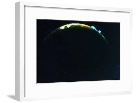 Volcanic Eruption on Jupiter's Moon, Lo, 1979--Framed Art Print