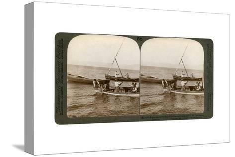 Fishermen on the Sea of Galilee, Palestine, 1900-Underwood & Underwood-Stretched Canvas Print