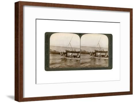 Fishermen on the Sea of Galilee, Palestine, 1900-Underwood & Underwood-Framed Art Print