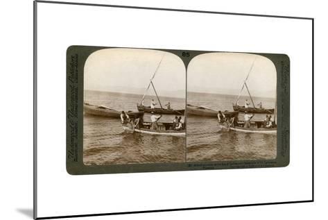 Fishermen on the Sea of Galilee, Palestine, 1900-Underwood & Underwood-Mounted Giclee Print