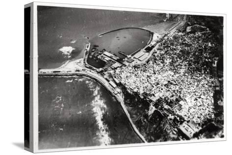 Aerial View of Tangier, Morocco, from a Zeppelin, 1930--Stretched Canvas Print