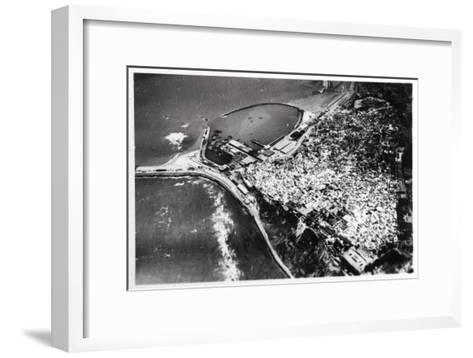 Aerial View of Tangier, Morocco, from a Zeppelin, 1930--Framed Art Print