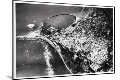 Aerial View of Tangier, Morocco, from a Zeppelin, 1930--Mounted Giclee Print