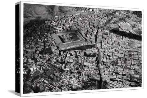 Aerial View of Old Cairo, Egypt, from a Zeppelin, 1931--Stretched Canvas Print