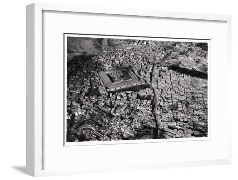 Aerial View of Old Cairo, Egypt, from a Zeppelin, 1931--Framed Art Print