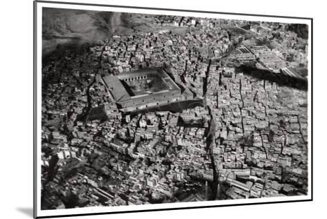 Aerial View of Old Cairo, Egypt, from a Zeppelin, 1931--Mounted Giclee Print