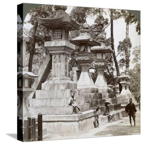 Stone Lanterns at Sumiyoshi, Osaka, Japan, 1904-Underwood & Underwood-Stretched Canvas Print