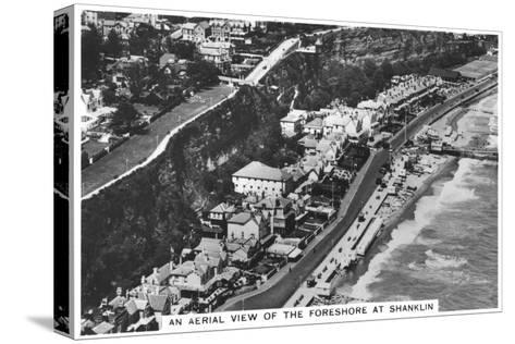 An Arial View of the Foreshore at Shanklin, 1936--Stretched Canvas Print