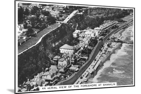 An Arial View of the Foreshore at Shanklin, 1936--Mounted Giclee Print