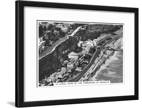 An Arial View of the Foreshore at Shanklin, 1936--Framed Art Print