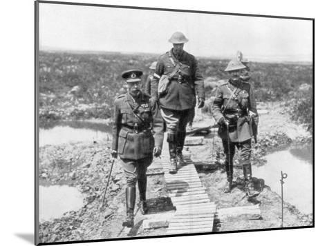King George V and the Canadian General Currie View the Captured Ground at Vimy and Messines, 1917--Mounted Giclee Print