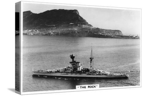 Battleship HMS Revenge Off Gilbralter, 1937--Stretched Canvas Print
