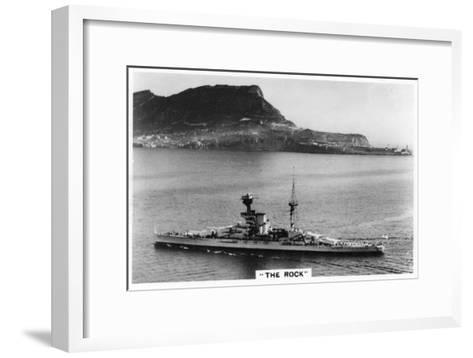 Battleship HMS Revenge Off Gilbralter, 1937--Framed Art Print