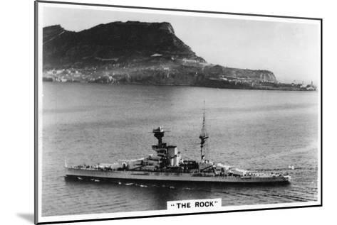 Battleship HMS Revenge Off Gilbralter, 1937--Mounted Giclee Print