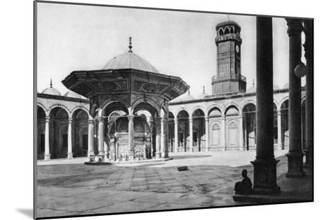 The Courtyard of the Mosque of Muhammad Ali at the Saladin Citadel, Cairo, Egypt, C1920s--Mounted Giclee Print
