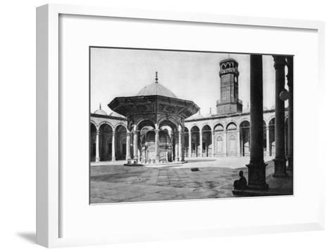 The Courtyard of the Mosque of Muhammad Ali at the Saladin Citadel, Cairo, Egypt, C1920s--Framed Art Print