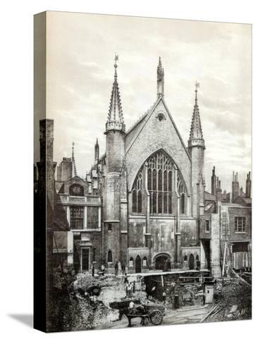 View of the East End of Guildhall and the Old Library, City of London, 1886--Stretched Canvas Print