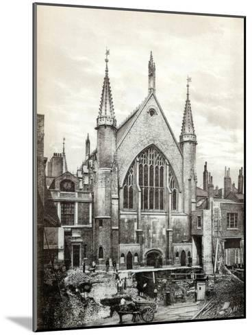 View of the East End of Guildhall and the Old Library, City of London, 1886--Mounted Giclee Print