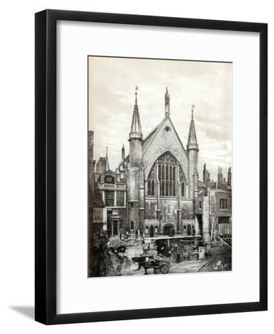 View of the East End of Guildhall and the Old Library, City of London, 1886--Framed Art Print