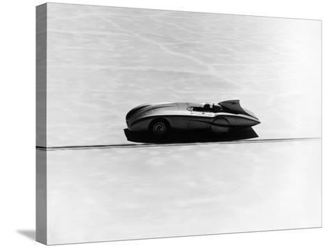 Donald Healey's Austin Healey Attempting a Land Speed Record, 1953--Stretched Canvas Print