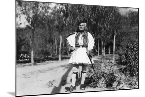 A Greek Soldier in Traditional Uniform, C1920s-C1930s--Mounted Giclee Print