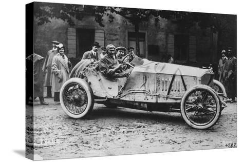 Mercedes Which Came Third in the 1914 French Grand Prix--Stretched Canvas Print
