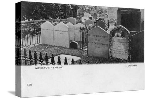 Grave of the Poet William Wordsworth, Grasmere, Westmorland, 20th Century--Stretched Canvas Print