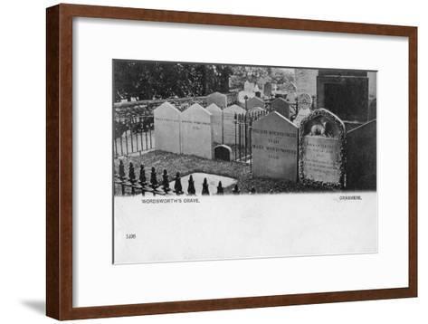 Grave of the Poet William Wordsworth, Grasmere, Westmorland, 20th Century--Framed Art Print