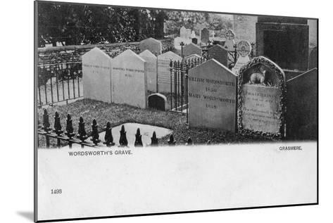 Grave of the Poet William Wordsworth, Grasmere, Westmorland, 20th Century--Mounted Giclee Print