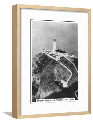 South Stack Lighthouse, Holyhead, Wales, 1937--Framed Art Print