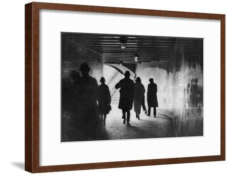 The Mouth of a Thames-Side Subway, London, 1926-1927--Framed Art Print